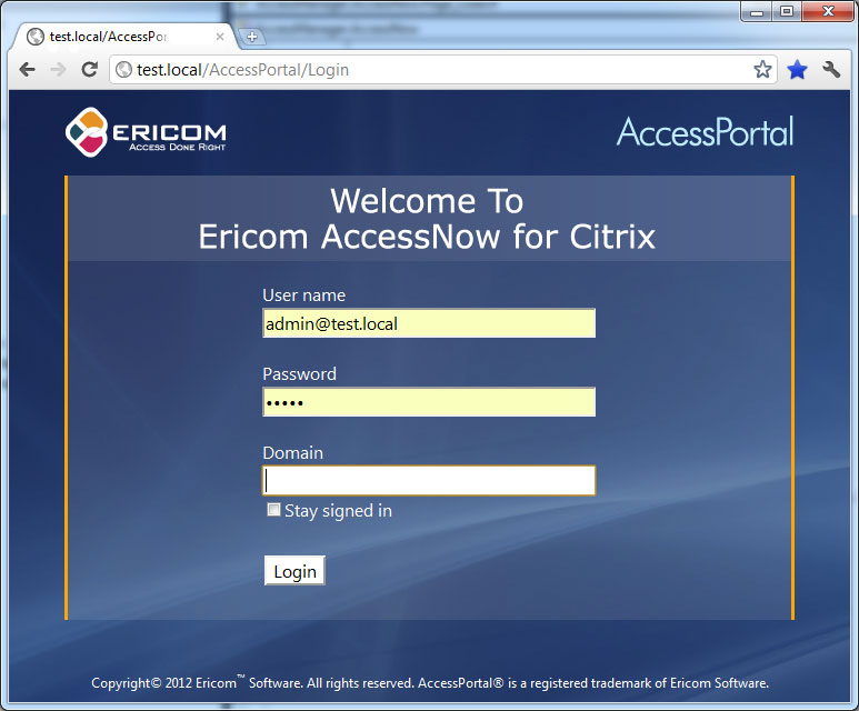 Ericom AccessNow HTML5 Client for Citrix XenApp and XenDesktop mdash